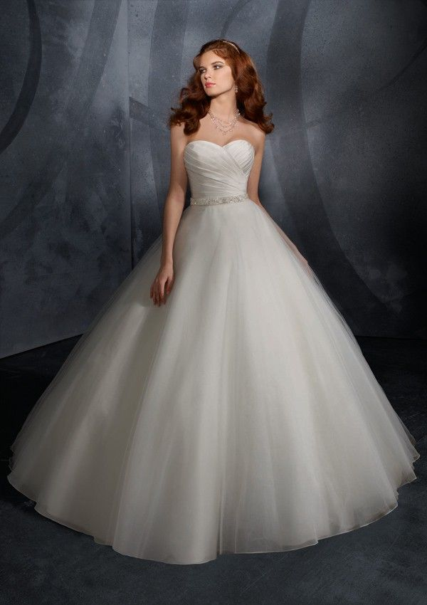 Bodice and Elegant Ball Gown Cheap princess wedding dresses