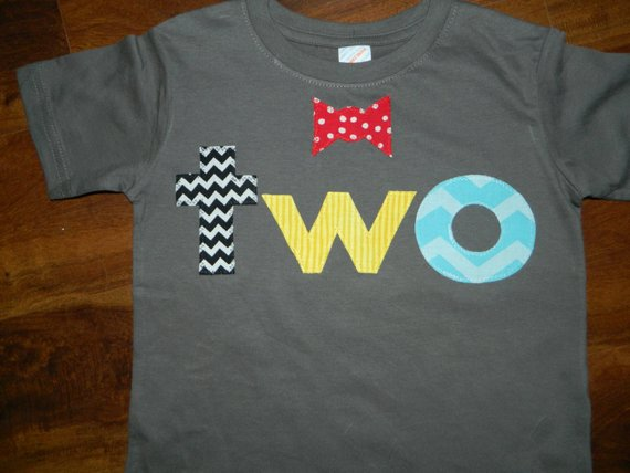 2 Year Old Birthday Shirt Toddler Boy Birthday Shirt With Bow Tie