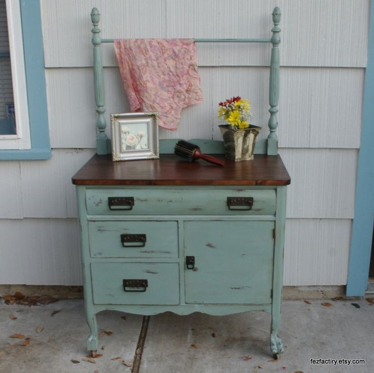 Refinished Antique Dresser Or Wash Stand By Fezfactiry On Etsy
