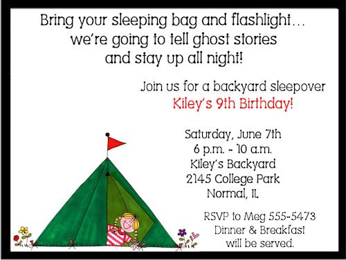 Free Camping Birthday Party Invitations Ideas