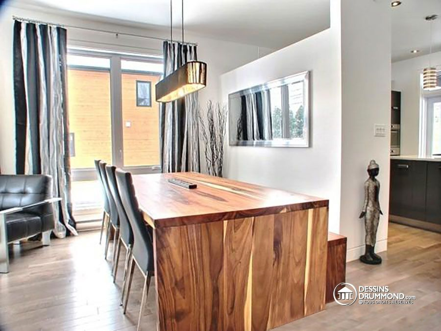 Détail du plan de Maison unifamiliale W3713-V1 planovi kuca - plan de maison design