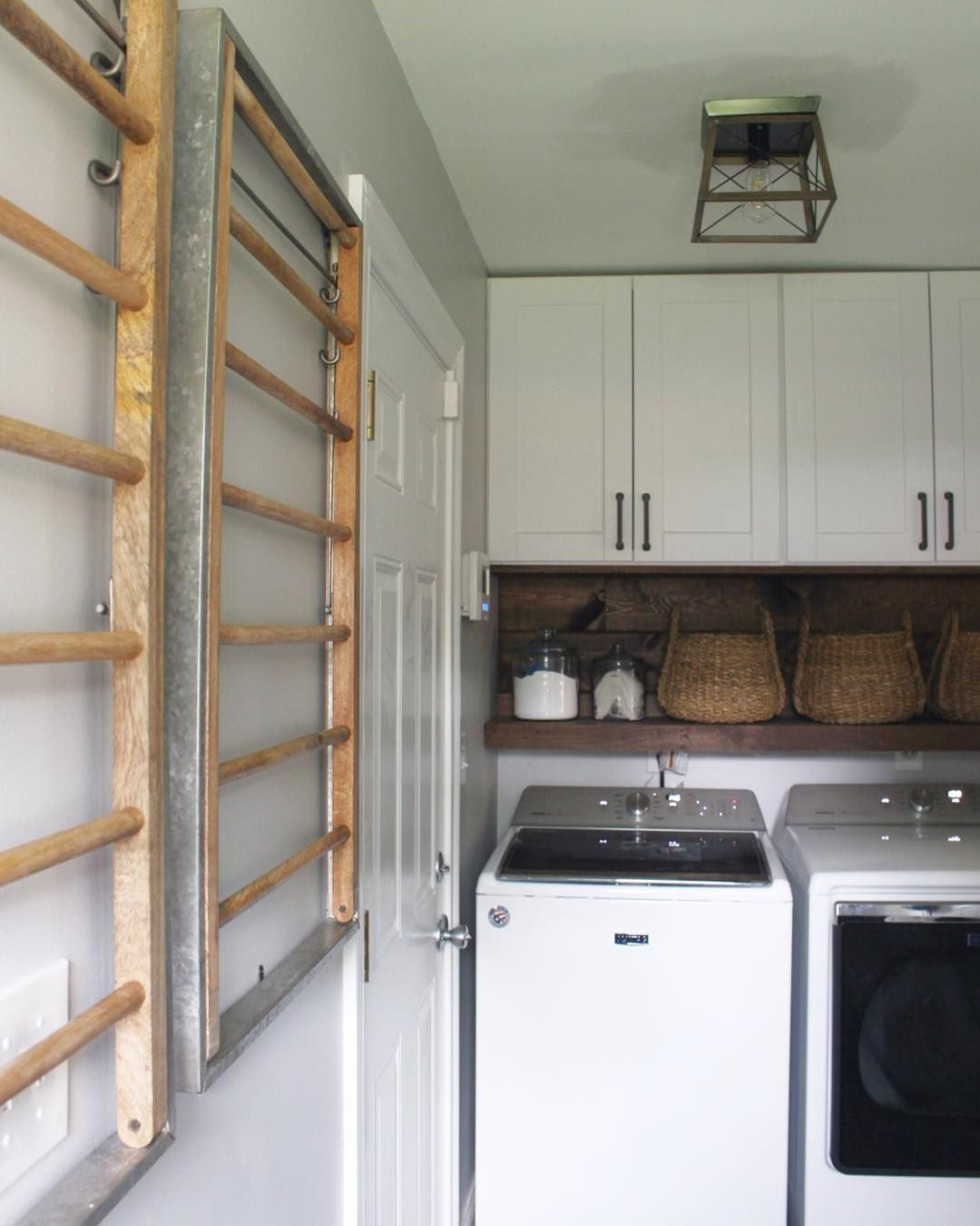 Mud Room Renovation Complete These Wall Mounted Drying Racks Are My