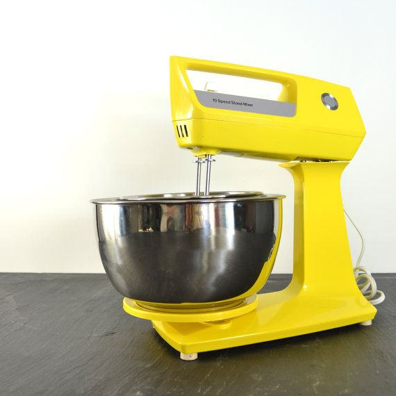 Vintage Yellow Stand Mixer - JCPenney Kitchen Appliance - Bright ...
