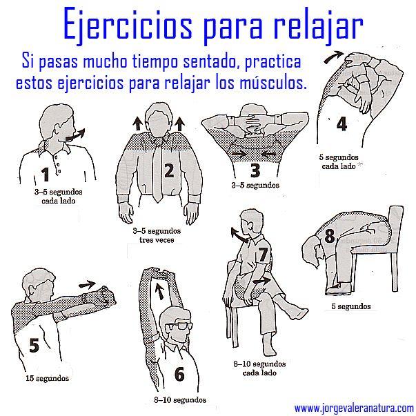 EJERCICIOS DE RELAJACION MUSCULAR | Ejercicios de relajacion ...