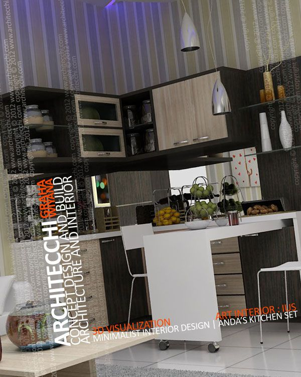Desain interior kitchen set minimalis interior design for Interior design minimalis