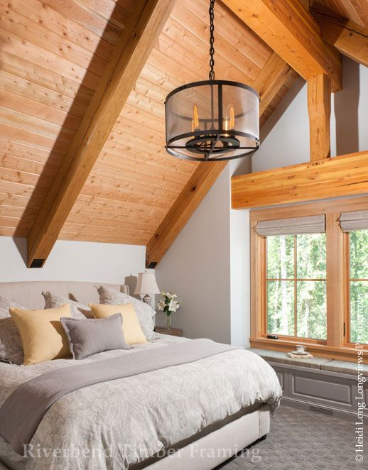 Rocky Mtn Allure Timber Frame Master Bedroom - Custom Design ...