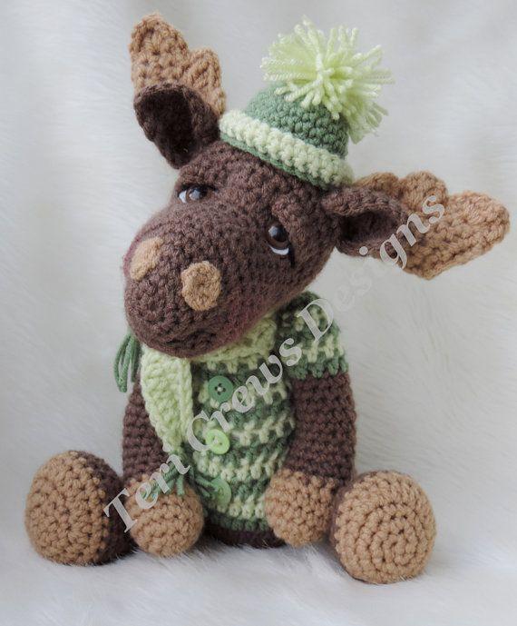 Moose Crochet Pattern Instant Download PDF format por TCrewsDesigns ...