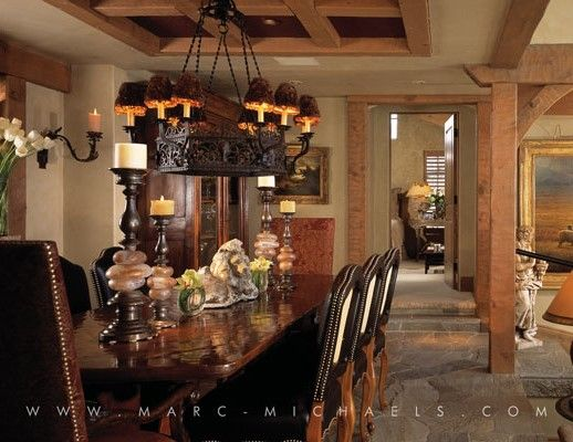 Rustic Alpine Style Dining Room Luxury Interior Design Firm In Aspen Colorado