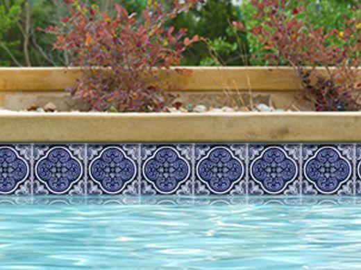 national pool tile casablanca 6x6 deco