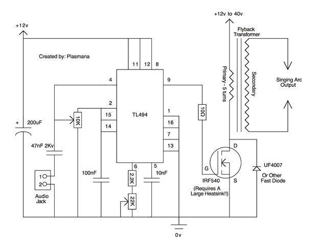 The Plasma Speaker Electronics Electronic schematics