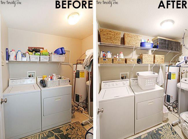 Best 20 Unfinished Laundry Room Ideas On Pinterest Basement Het Vernieuwen Van Je Washok Hoeft Niet Duur Te Zijn Goedkope