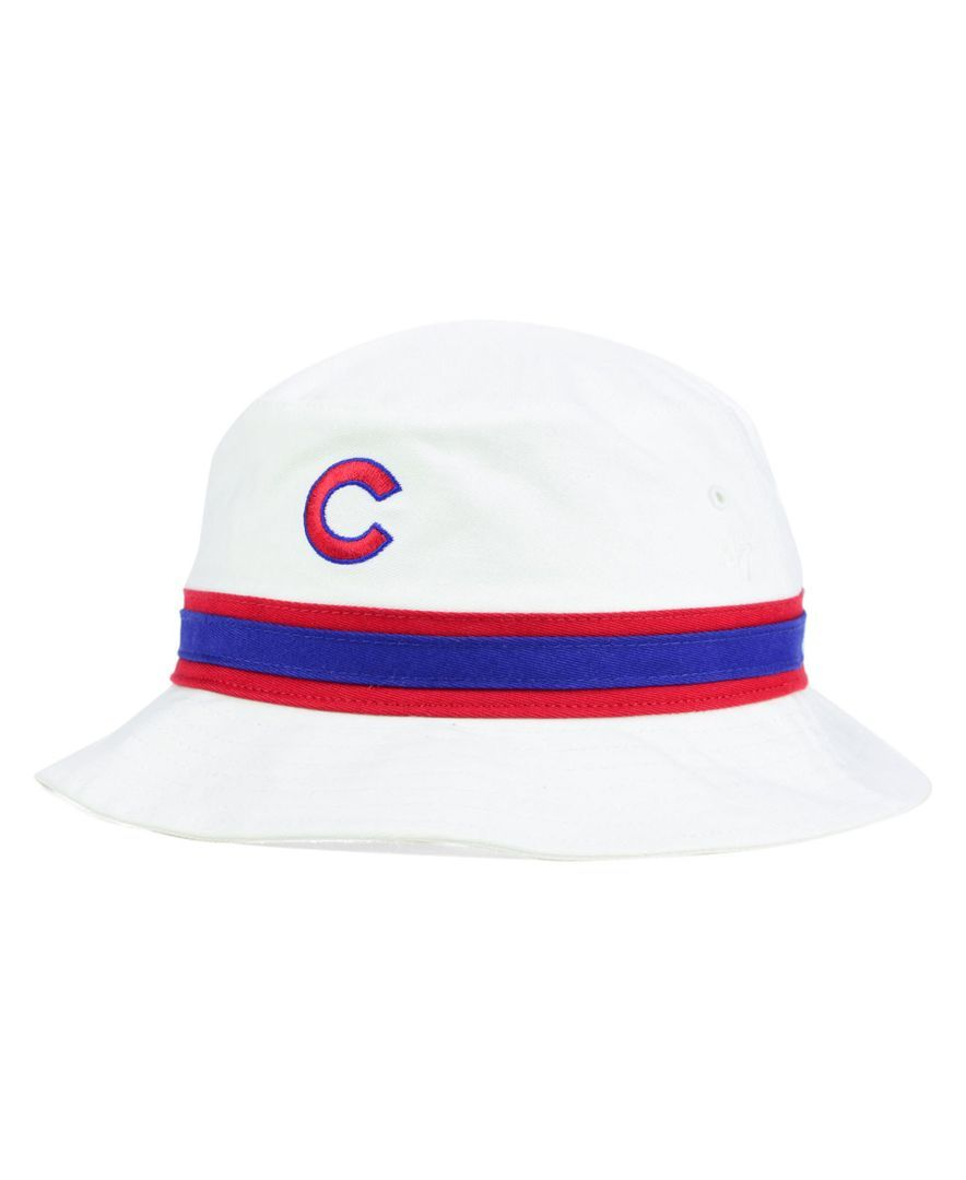 1db5841bc81  47 Brand Chicago Cubs Striped Bucket Hat.