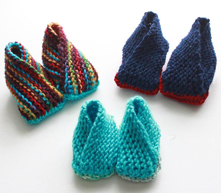 Gina Michele: Crossover Booties- Now With Additional Sizes [knitting pattern]