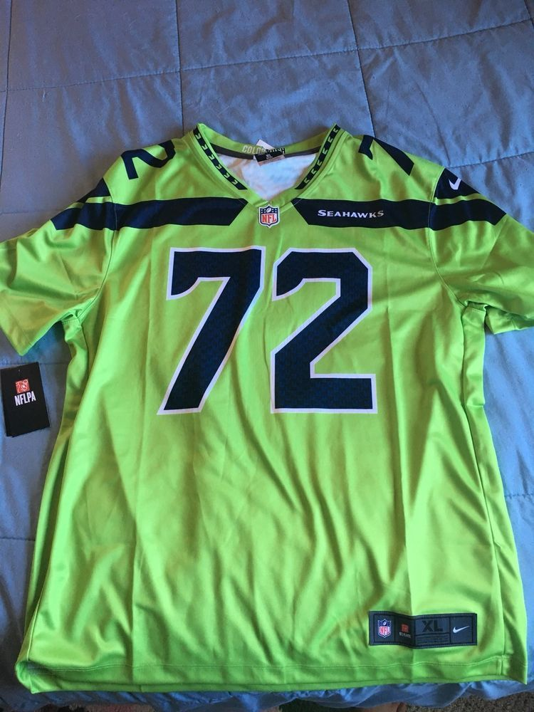 202916a89 NIKE SEATTLE SEAHAWKS MICHAEL BENNETT  72 NFL COLOR RUSH JERSEY - MEN S SIZE  XL   20.00 (0 Bids) End Date  Sunday Oct-28-2018 20 30 57 PDT…