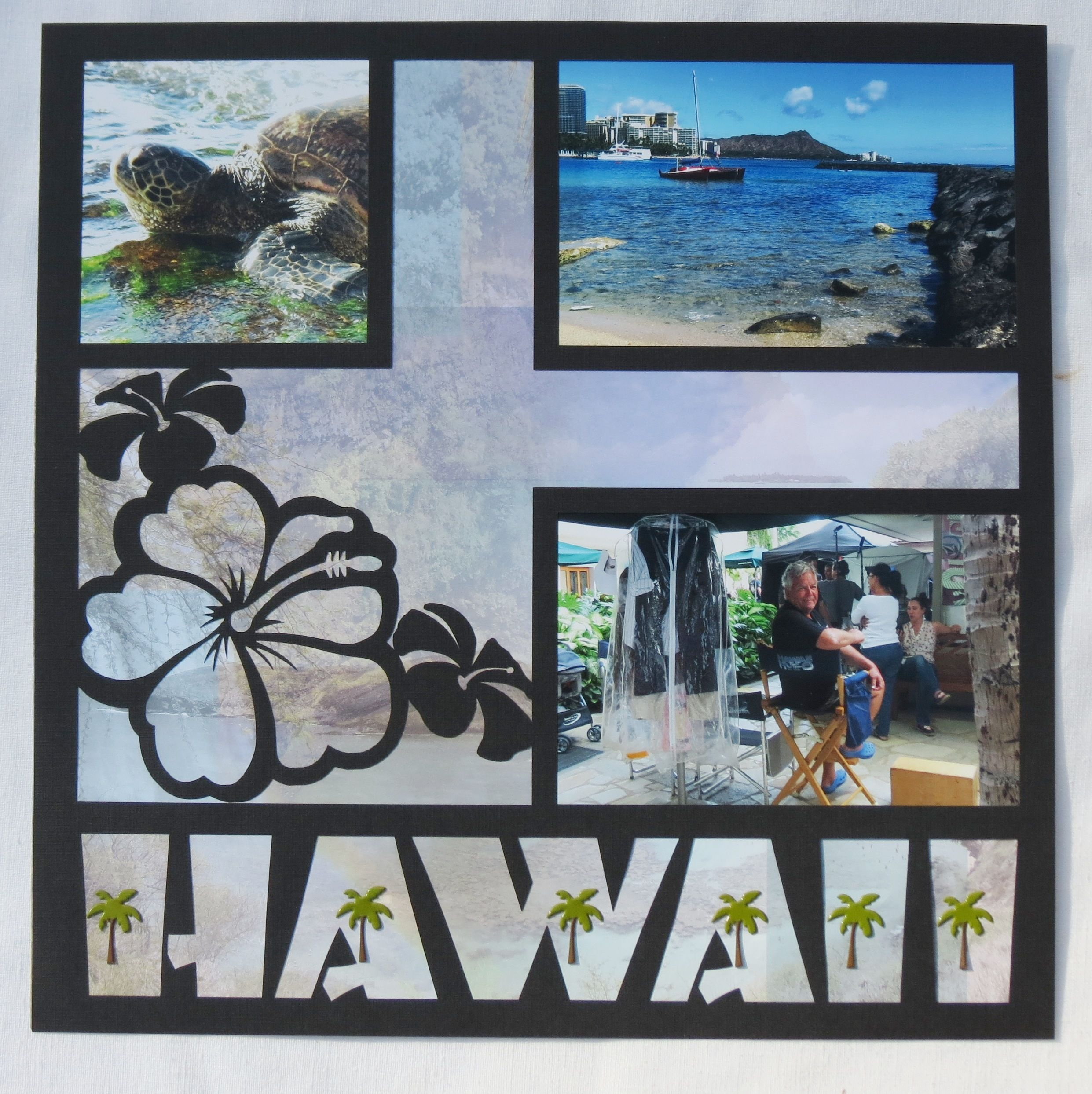 Scrapbook ideas hawaii - Henri Jean S Gallery With Layouts Projects And Photos Usa 2016 Scrapbook Hawaii Title Page
