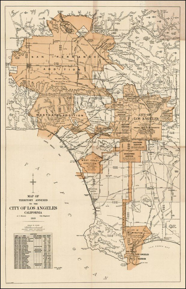 Los Angeles Map 1918 Los Angeles Map Los Angeles Map Print Antique Maps