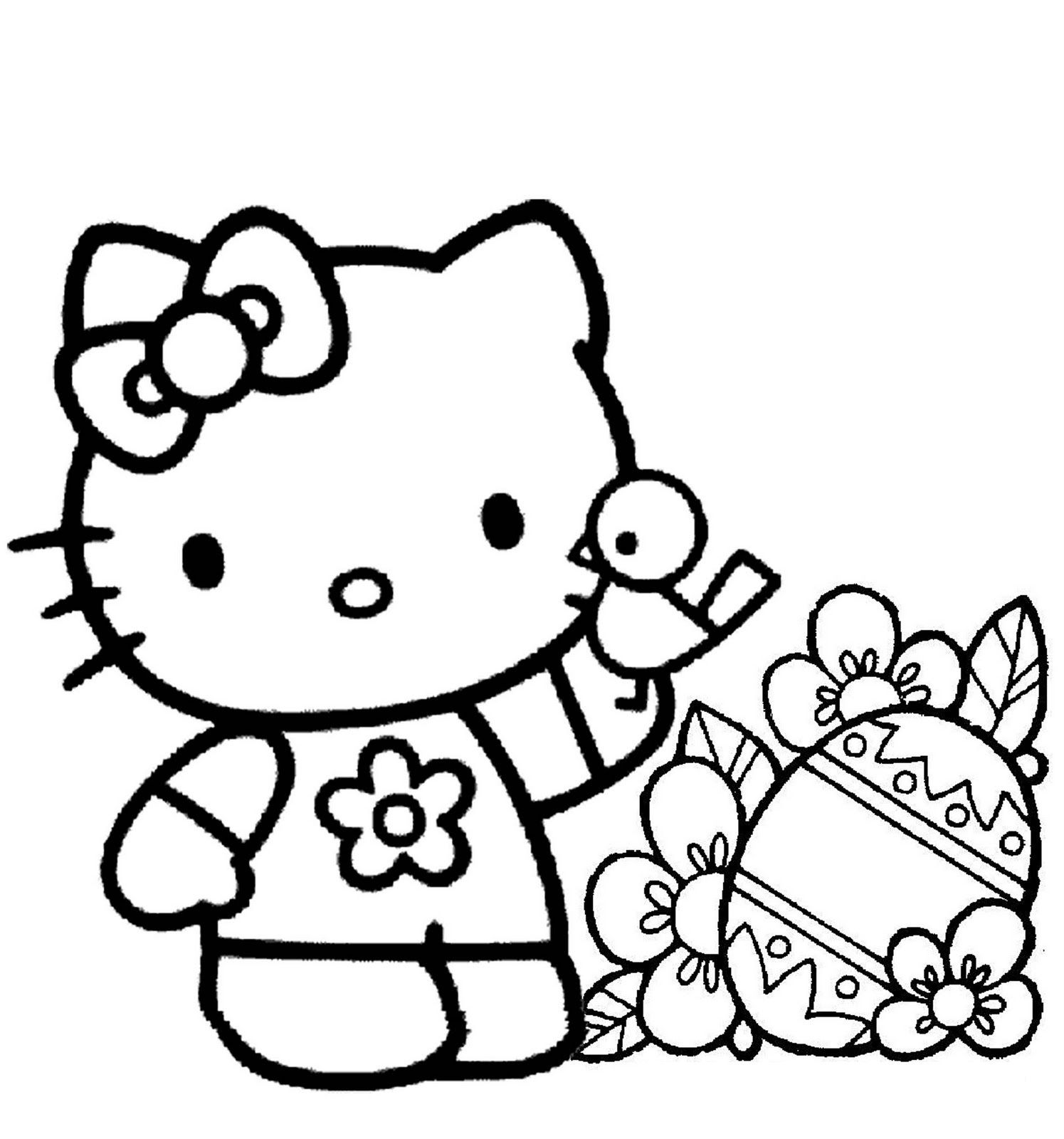 Free Printable Hello Kitty Coloring Pages For Kids Hello Kitty Colouring Pages Hello Kitty Coloring Free Easter Coloring Pages