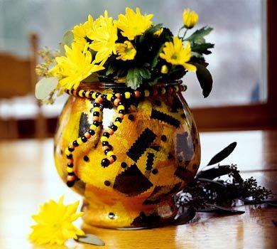 Fiendish Fishbowls Fishbowl, Glass blocks and Decoupage - halloween fish tank decorations