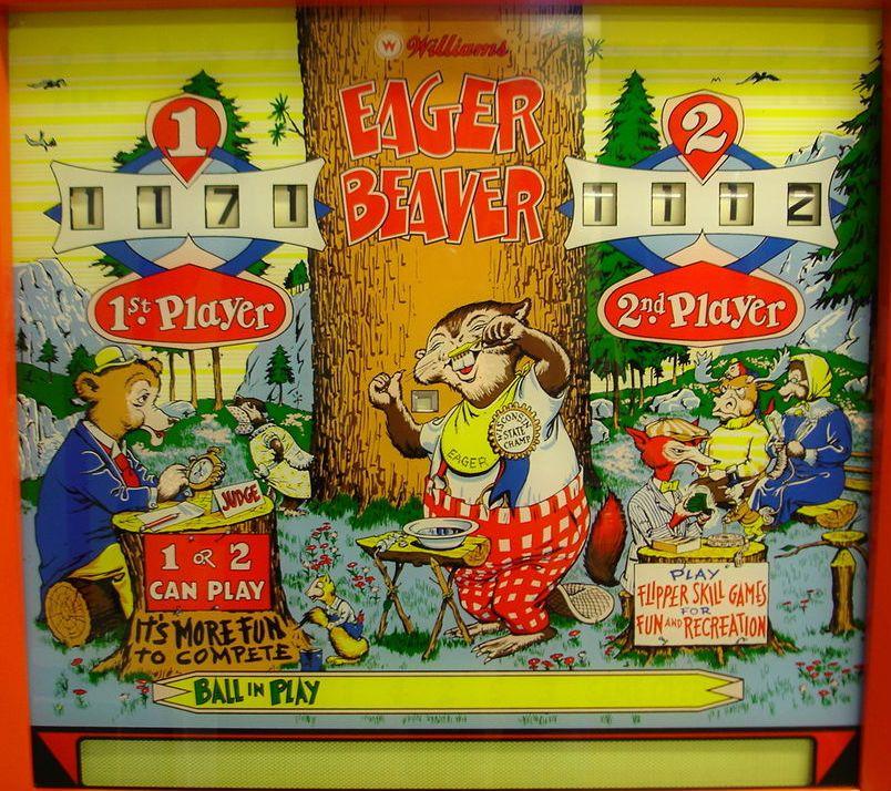 Internet Pinball Machine Database Williams Eager Beaver Images Pinball Art Pinball Pinball Machine