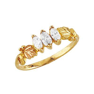 Black Hills Gold 3 Stone Diamond Ring Price 490 Ladies Diamond Rings Black Hills Gold Jewelry Black Hills Gold