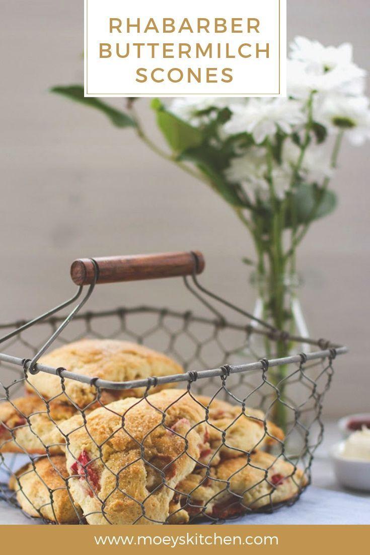 Sonntags-Frühstück deluxe: Rhabarber-Buttermilch-Scones