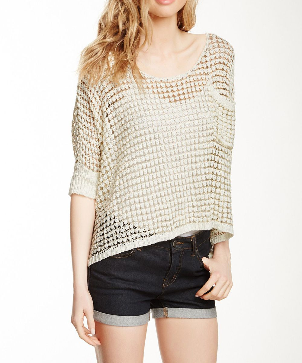 Oyster Crochet HiLow Sweater zulily Sweaters, Fashion
