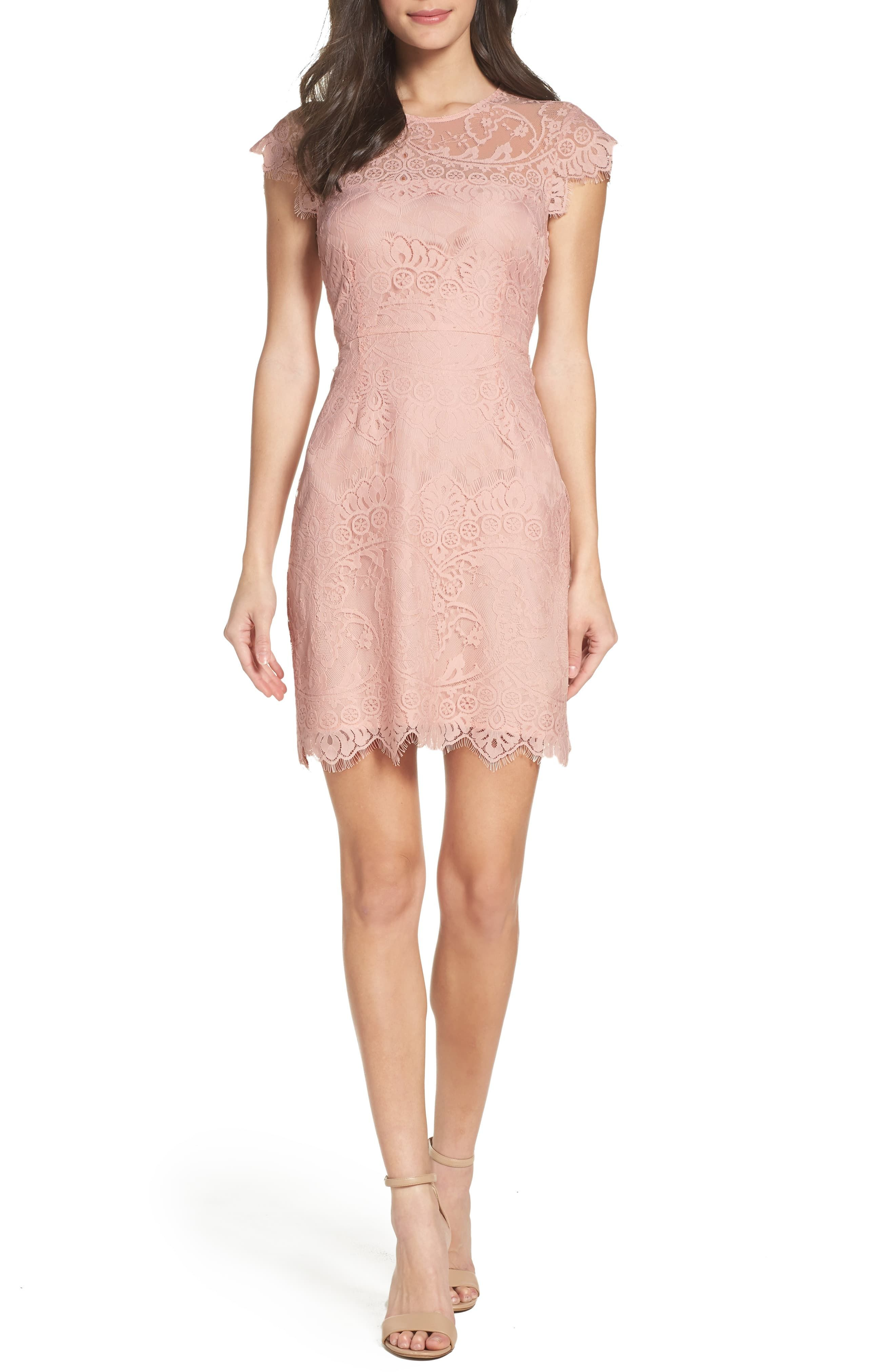 Women's Bb Dakota Jayce Lace Sheath Cocktail Dress, Size 6