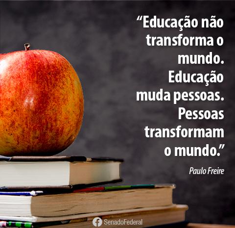 Educação não é custo, é investimento!