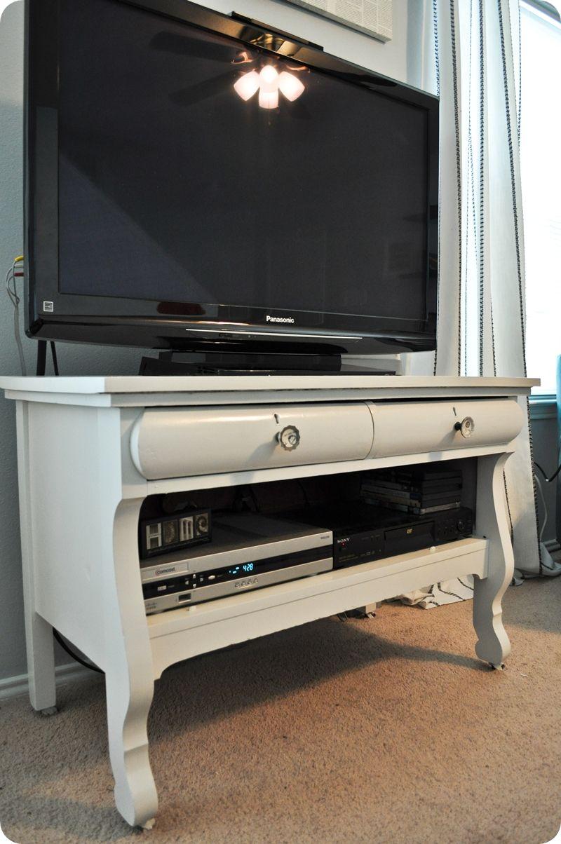 A Redo Antique Dresser Turned Tv Stand