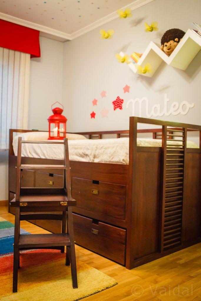 Cama nido banak estanter a ikea silla convertible en - Escalera cama infantil ...