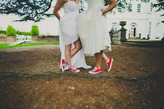 98b99a62d06c Matching Red Converse at Lesbian Wedding  PinewoodStudioWedding AmyBPhotography-154