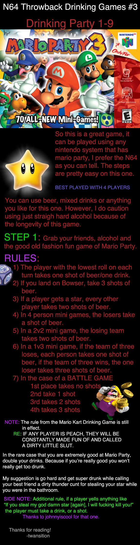 N64 Throwback Drinking Games 3 Drinking Party 1 9 Drinking Games Birthday Games For Adults Drinking Games For Parties