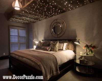 Stretch Ceiling With Twinkle Lights Bedroom Ceiling Designs Ideas - Twinkle lights on bedroom ceiling