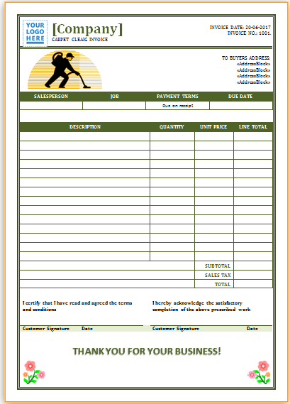 Carpet Cleaning Invoice Template 7 How To Clean Carpet Professional Carpet Cleaning Carpet Cleaning Hacks