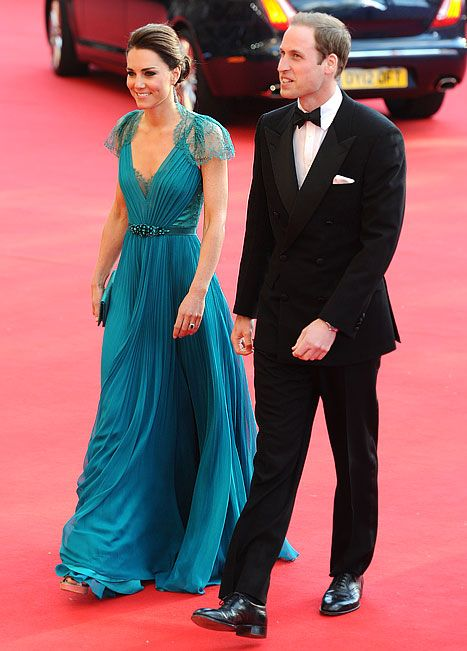 LOVE this dress.   Catherine Middleton and HRH Prince William pictured arriving at the Royal Albert Hall on May 11, 2012.
