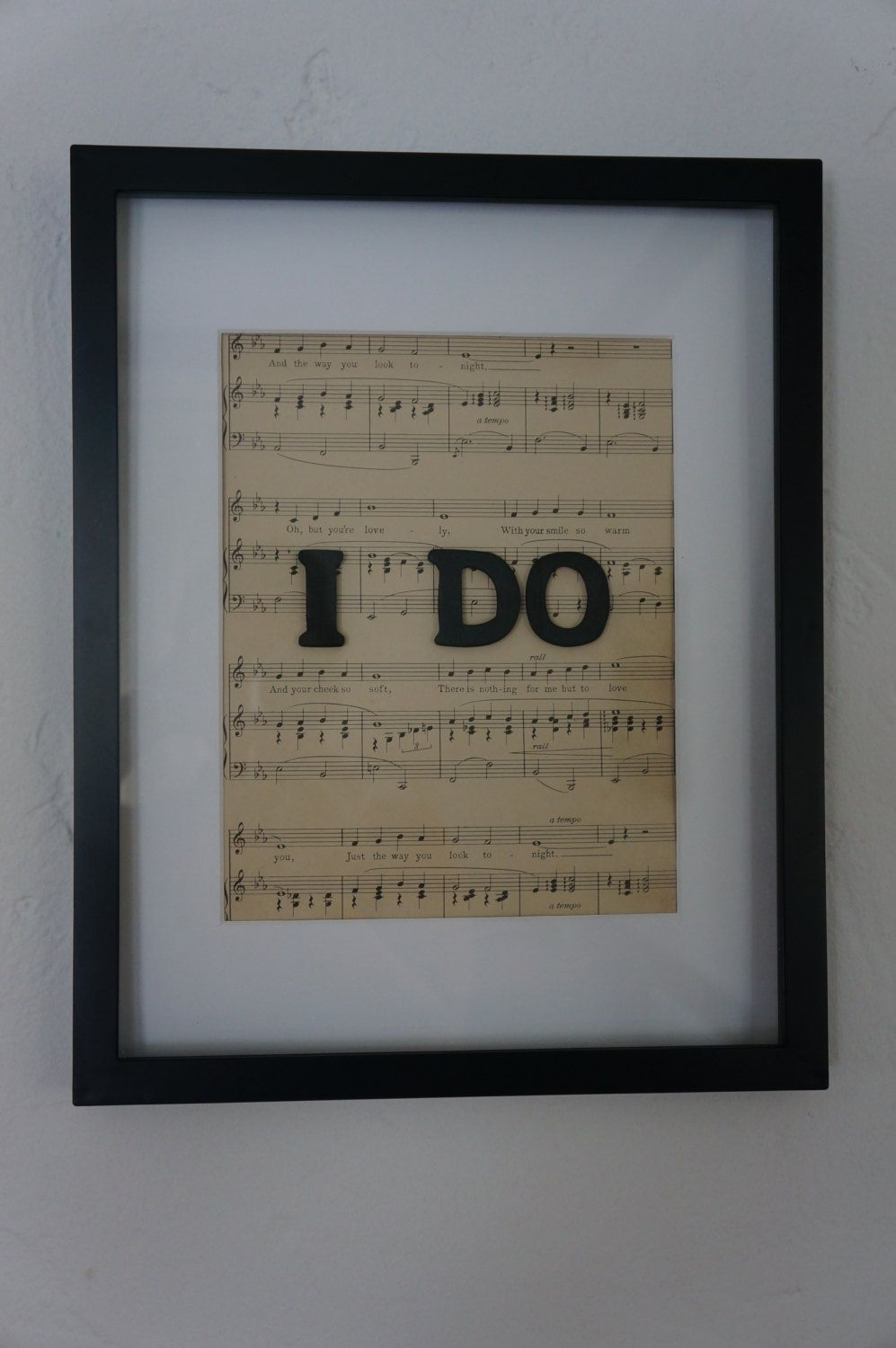 I DO Wedding Frame Personalized Sheet Music First Dance