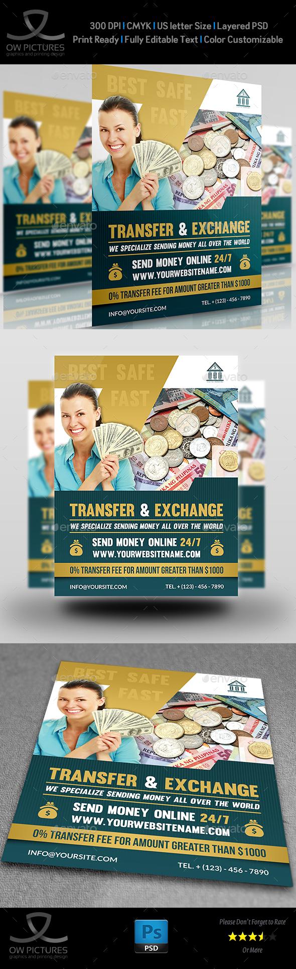 Transfer Exchange Money Flyer Template Flyer Template Template - Money flyer template