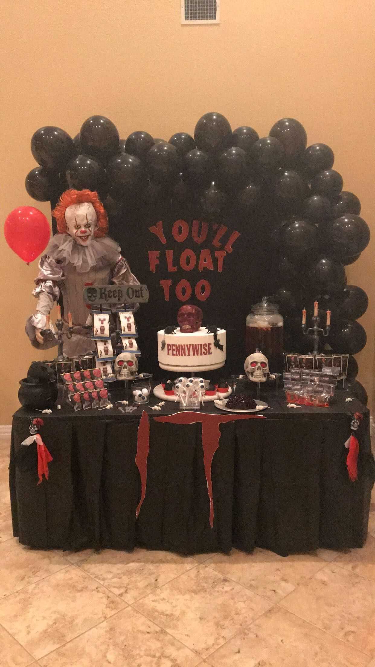 Pennywise Halloween Birthday halloween party