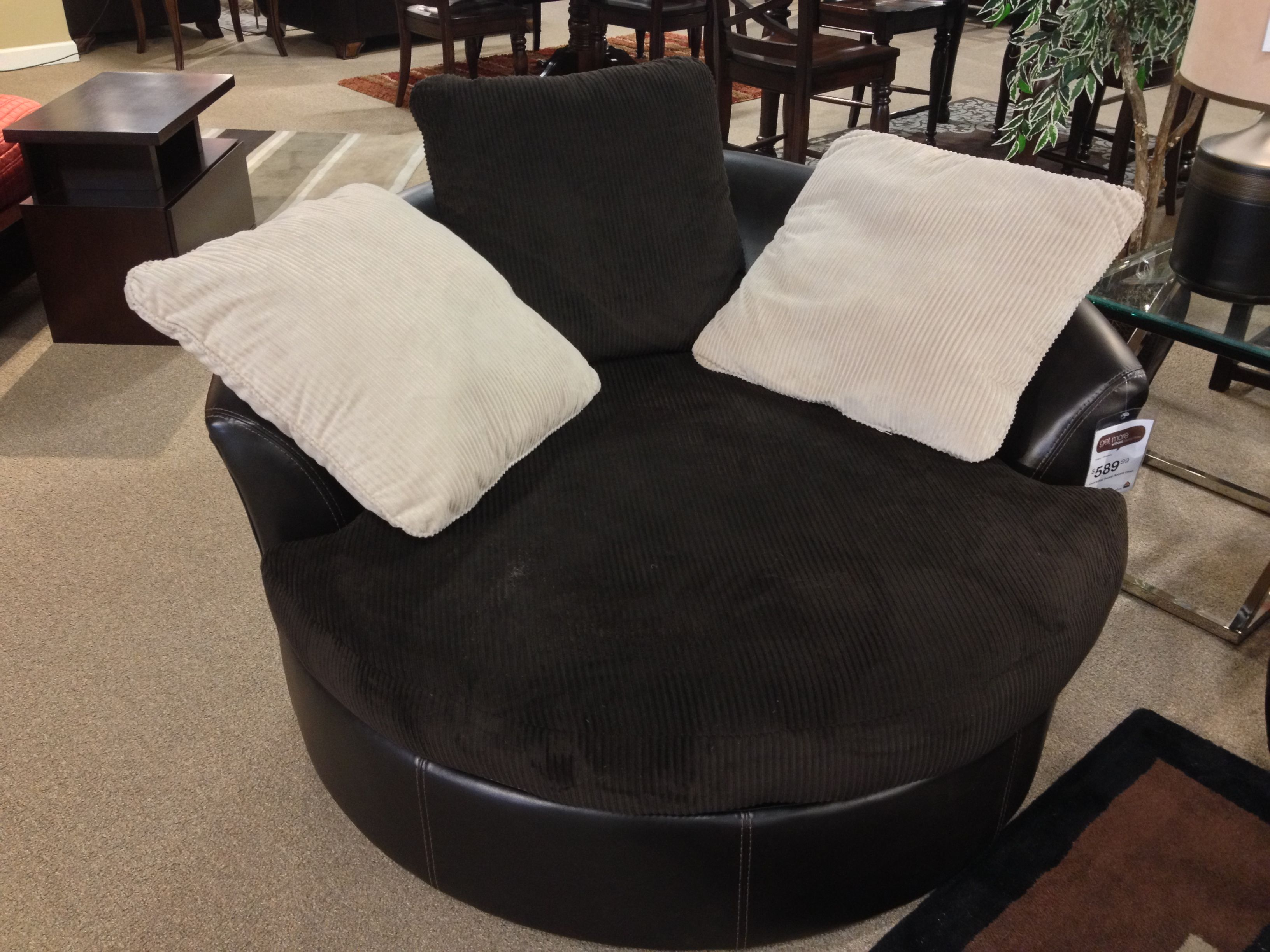 Ashley oversized swivel accent chair - Victory Chocolate Oversized Swivel Accent Chair At Your Ashley Furniture Homestore In