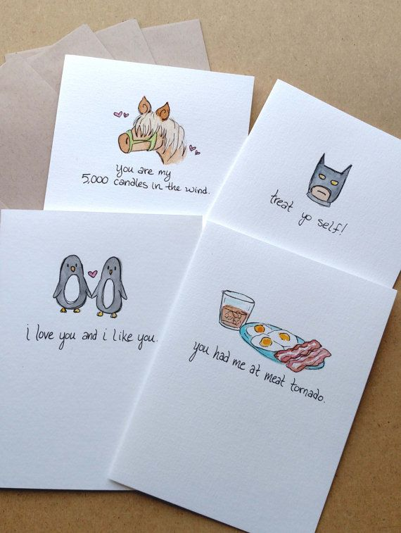 4 Parks and Recreation Greeting Cards, Notecards, Handmade ...