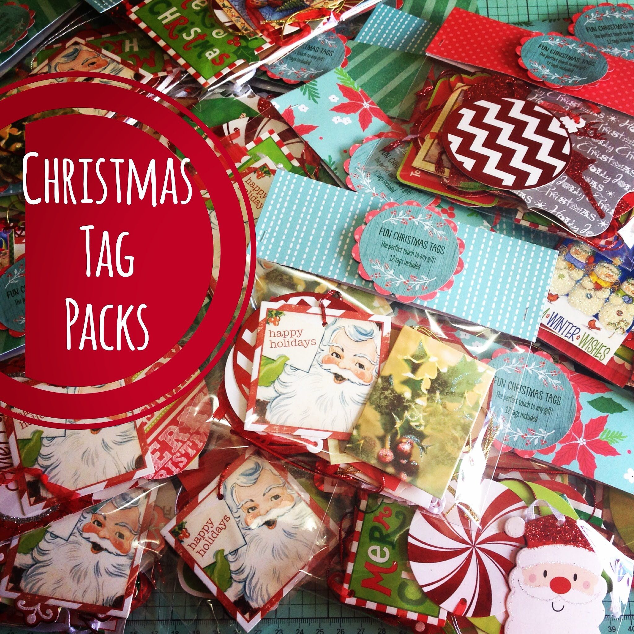 Craft fair idea 11 christmas tag packs christmas for Craft fair best sellers