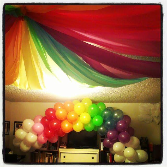 rainbow party decorations