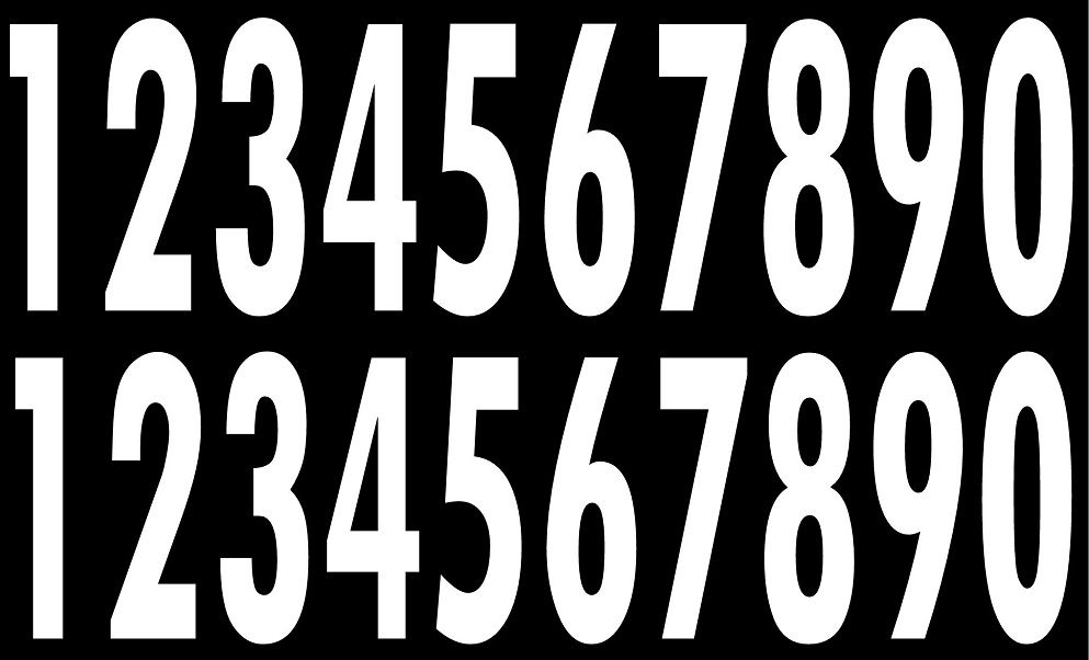 Full Size Helmet Number Decals for Pittsburgh Steelers