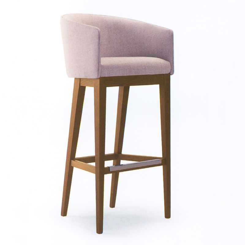 Fabric Bar Stool Perfect For An Island And Warm Comfortable
