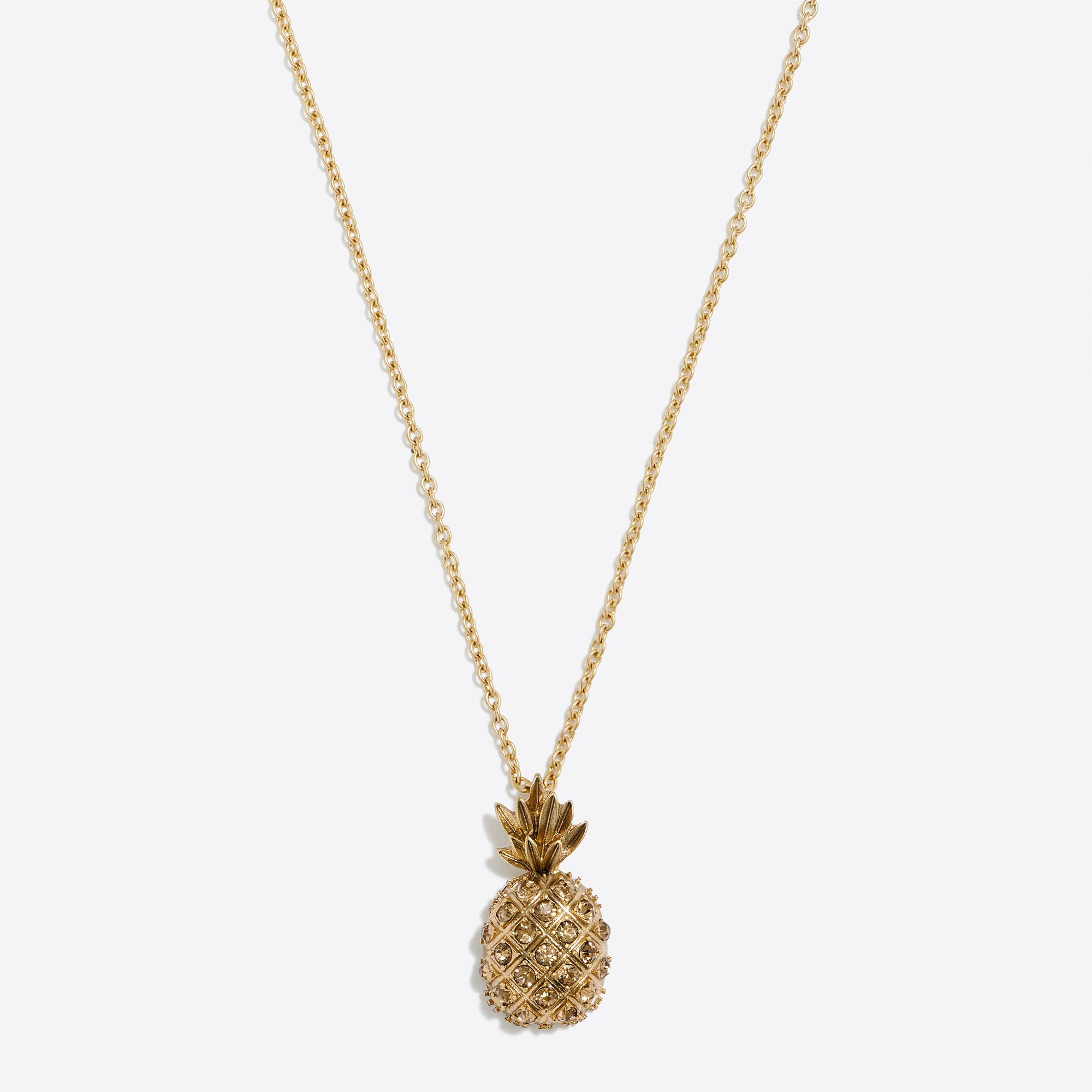 Zinc Glass Steel Light Gold Ox Plating 30 With A 3 Extender Chain For Adjustable Length Import J Crew Jewelry Pineapple Jewelry Necklace