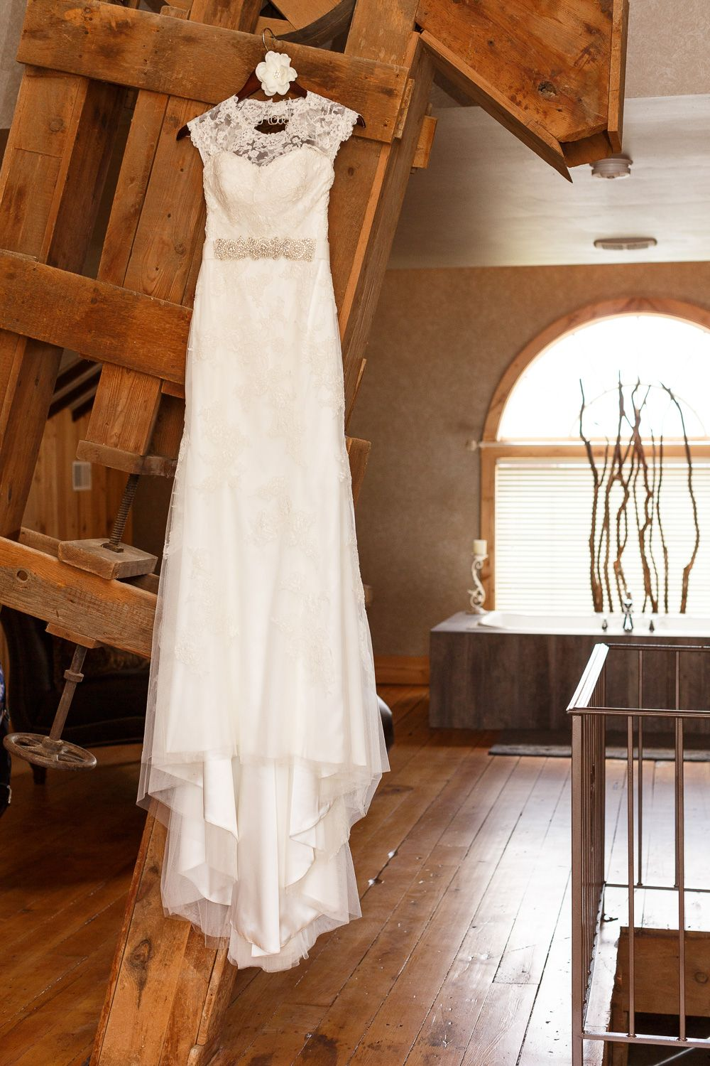 Wedding Dress. Wedding photography taken at the Barns Of Old Glory ...