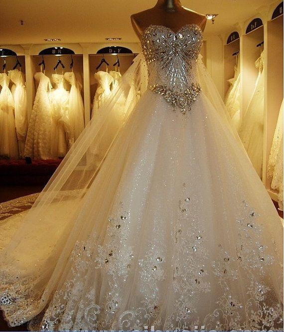 Original Luxury Long Tail Wedding Dresses By Suziesbridalboutique 2299 00