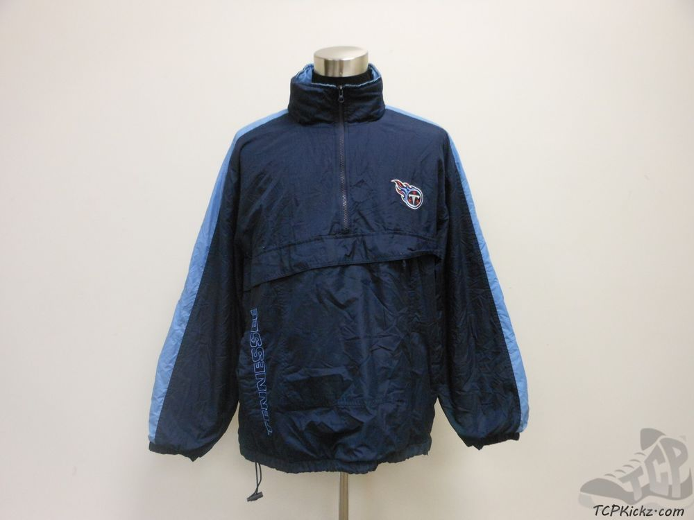 Vtg 90s Logo Athletic Tennessee Titans Half Zip Light Jacket sz XL Extra Large #LogoAthletic #TennesseeTitans  #tcpkickz