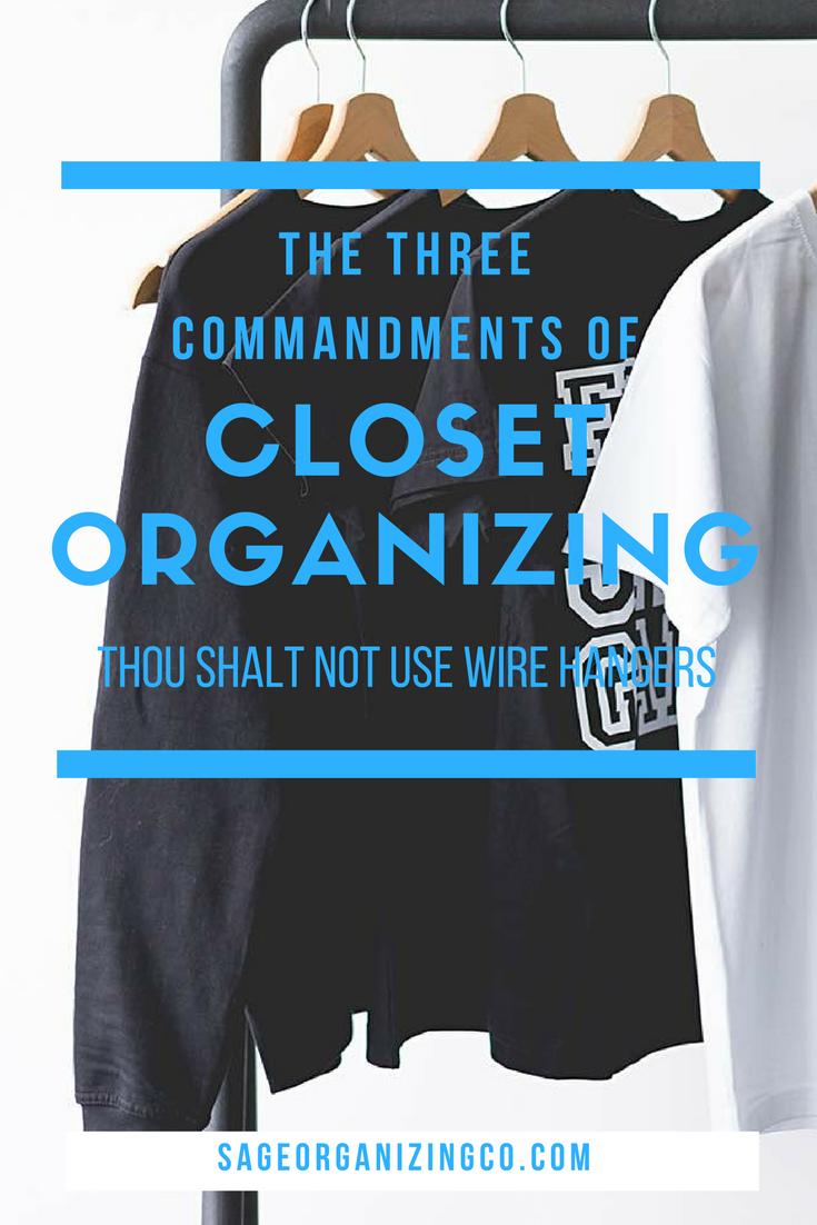 Closet Organization Ideas + Hacks: The 3 Commandments | Pinterest ...