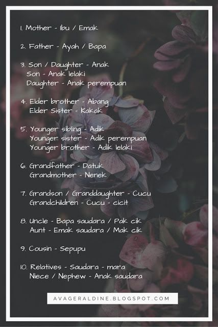 Sepupu Bahasa Inggris : sepupu, bahasa, inggris, Malay, #language, #malaysia, #bahasa, #melayu, Pelajaran, Bahasa, Inggris,, Kosakata,, Kosakata, Inggris